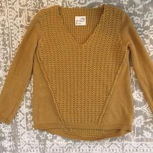 M reena S mustard yellow sweater